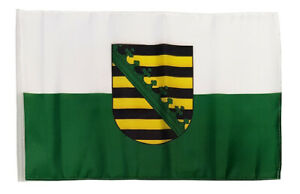 Sachsen Flagge Fahne Hohlsaumflagge  Stockfahne 30x45 cm   NEU