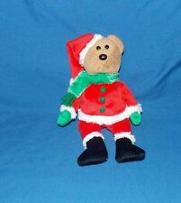 Ty Beanie Babies Baby Holiday Santa KRINGLE stuffed plush Teddy Bear