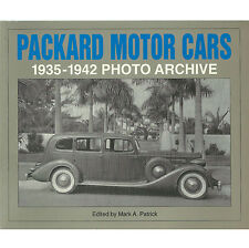 """PACKARD MOTOR CARS: 1935-1942 PHOTO ARCHIVE"" 1996 1ST PB ED NF WONDRRFUL PHOTOS"