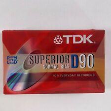 TDK Superior D90 Normal Bias Blank Media Cassette D-90                       B-E