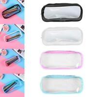 Big Capacity Pen Bag Cosmetic Pouch Clear Pencil Case Transparent Pouch PVC