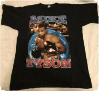 Vintage 90s Mike Tyson Rap Boxing Hip Hop Black T-Shirt Size S to 2XL G145