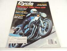 Nov 1981 CYCLE Magazine Yamaha Seca 650 Moto Guzzi 500 Monza Honda XR250R L1437