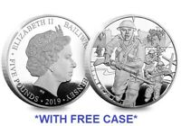 *RARE* UK FIVE POUND £5 COIN 2019 D-DAY 75TH ANNIVERSARY PROOF *NEW + FREE CASE*
