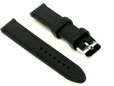 20mm Black Soft Silicon Rubber Diving Watch Strap Fits All