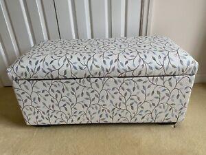 Storage Ottoman / Window Seat, one-off bespoke piece, Malvern Blush fabric