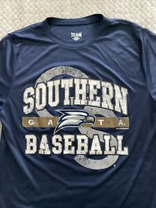 Georgia Southern Baseball navy blue dri fit tee adult small t-shirt GATA