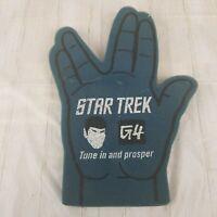 Star Trek Classic Live Long & Prosper Foam Hand Finger Spock G4 Tune In Blue