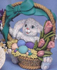 Ceramic Bisque Ready to Paint Large Easter Bunny with Basket Light kit included