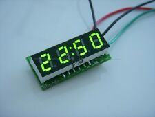 "0.28"" Digital Electronic Clock 12V 24V Car Motorcycle LED Watch time Display gre"