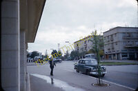 Street Scene Plymouth Deluxe 1950s 35mm Slide Red Border Kodachrome