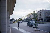 Street Scene Plymouth Deluxe 1950s 35mm Slide Red Border Kodachrome