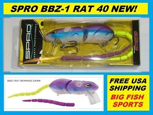 SPRO BBZ-1 RAT 40 Topwater Lure MORNING DAWN COLOR! FREE USA SHIP! #SRT40Z1MDN