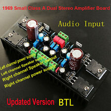 DC 12V-18V 1969 Small Class A Dual Stereo Amplifier Board Module Assembled BTL