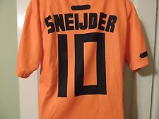 #10 Sneijder Holland Netherlands Soccer Jersey Adult Small Near Mint Polyester