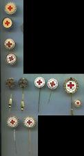 Rot Kreuz DRK 12 Anstecknadeln verschieden als Set (St320)