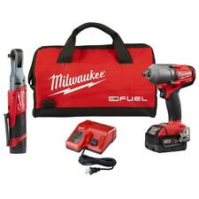 "NEW Milwaukee M12/M18 Fuel Combo 1/2"" Mid Torque Impact, 3/8"" Ratchet 2591-22"