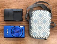 Canon PowerShot ELPH 150 IS 20 Megapixel Digital Camera (Blue) Bundle TESTED