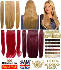 KOKO Thick Three Piece/Weft Straight Clip-in Hair Extensions Various Colours