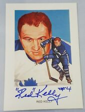 RED KELLY SIGNED AUTOGRAPHED 4 x 6 vintage old photo TORONTO MAPLE LEAFS