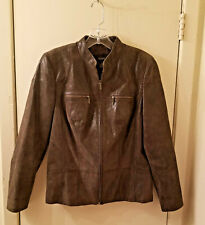 1X  $169.00 Alfani Suede Leather Jacket Animal Snake Print Size NWT