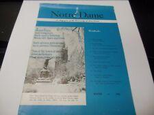 "WINTER 1956 NOTRE DAME MAGAZINE ""ADESTE FIDELIS"" ISSUE OFFICIAL PUBLICATION RARE"