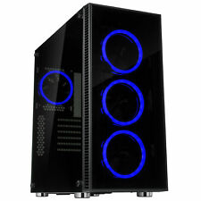 Rosewill ATX Mid Tower Gaming Computer PC Case Tempered Glass CULLINAN V500 Blue