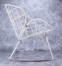 Vintage French Wrought Iron Garden Patio Chair 1940 Era Mid 20th Century Modern