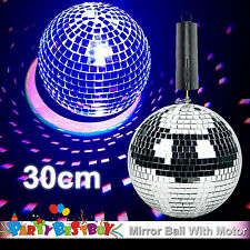 New 30cm Mirror Ball with Battery Operated Spin Rotating Motor Disco Party Stage