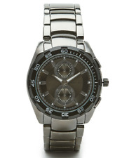 NEW! Authentic PERRY ELLIS GunMetal Bracelet Black Dial Analog Men's Watch  $145