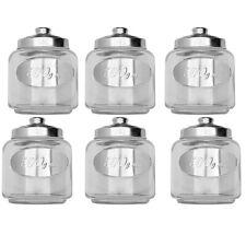 6 Bocaux de conservation en Verre - Pots avec couvercles métal