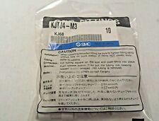 "Lot of 10 SMC KJT04-M3  ""T"" Pneumatic Fittings 4mm X M3 Same as KQ2T04-M3"
