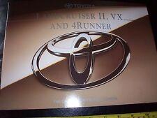 TOYOTA LANDCRUISER II 4 RUNNER VX 1994 AUTO brochure prospekt Nuovo di zecca nuova condizione