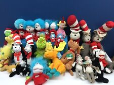 VTG & Modern LOT 23 Dr Seuss Character Plush Dolls Grinch Cat in Hat Thing 1 2