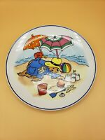 "SCHMID Year with Paddington Bear 1981 Collector Plate ""A Day At The Beach"" #356"