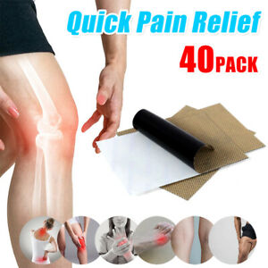 40pcs Moxibustion Moxa Therapy Warm Medicated Neck Back Pain Muscle Relief Patch