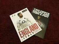 ENGLAND vs ITALY SIX NATIONS 2019 Rugby Union Programme 09/03/19!