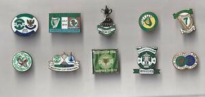 10 Hibernian lapel badges