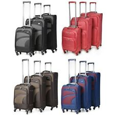 Aerolite Premium Super Lightweight 4 Wheel Luggage Suitcase Cabin Medium Large