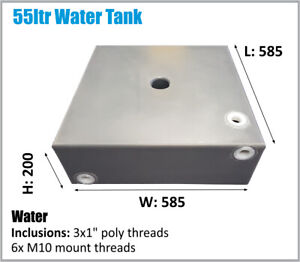TOYOTA ETC 4X4 UNDER UTE TRAY WATER TANK 55LTR CARAVAN 4WD CAMPER ASK FREIGHT