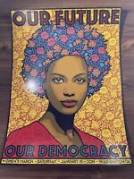 "Chuck Sperry ""Our Future Our Democracy"" Art Print Poster Women's March Vote"