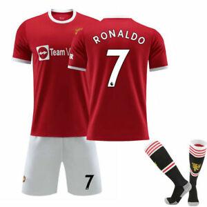21-22 New Red Devils Nr. 7 Cristiano Ronaldo Trikot Nr. 6 Pogba Trikot