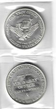 US (2) Two 1 oz .999 SILVER ROUNDS Dated 1981 Assay Office Strategic Stockpile
