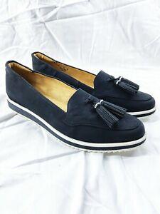 Women's Naturalizer Renee Slip-On Tassel Loafer - Wide Width Black White Size 9
