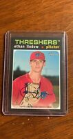 Ethan Lindow 2020 Topps Heritage Minors Real One Auto Autograph Phillies
