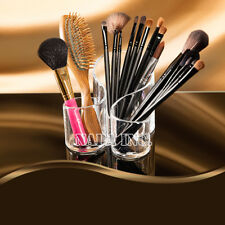 3 Cylinder Acrylic Cosmetic Organizer Makeup Case Brushes Comb Display Holder