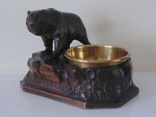 ANTIQUE BLACK FOREST BEAR SMOKERS COMPANION