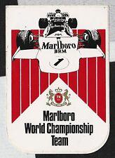 Marlboro F1 championship team 1973 brm P160 original période autocollant sticker