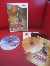 The Legend of Zelda: Skyward Sword (Nintendo Wii, 2011) COMPLETE with CD