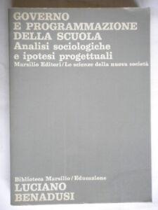 Governo e programmazione della scuola Benadusi Marsilio educazione formazione 32